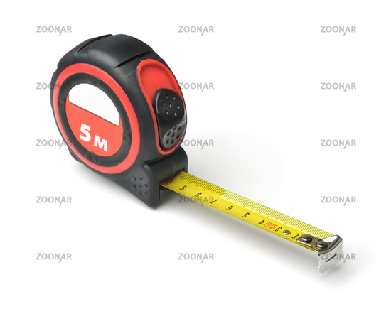 Self-retracting 5 meter tape measure