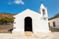 Famous landmark in el Hierro island, Virgen de los reyes ermitage, Canary islands, Spain.