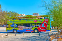 Yellow Hop On Hop Off Bus in Athens
