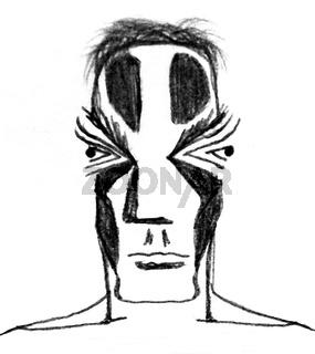 Primitive Man Portrait