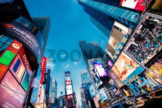LAS VEGAS, USA - DECEMBER 20, 2013: Times Square in Downtown Manhattan