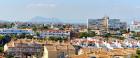 Horizontal image of Torrevieja cityscape, Spain