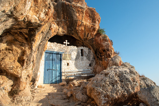 The Agioi saranta cave church at Protaras Cyprus.