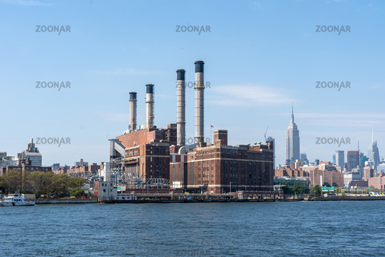 Con Edison Power Plant in Manhattan, NYC