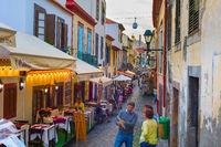 People restaurants street foof Madeira