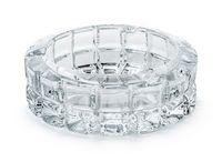 Figured glass ashtray
