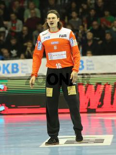 Torwart Jannick Green Krejberg, SC Magdeburg,  Liqui Moly HBL, Handball-Bundesliga Saison 2019-20