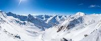 Snow mountain panorama