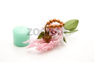Holzkreuz mit Rose