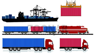 Container Logistik Transport.eps
