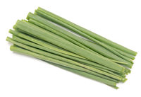 Green onion on white