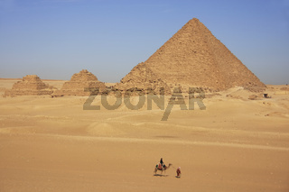 Pyramid of Menkaure and Pyramids of Queens, Cairo