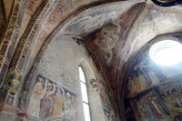 artistic frescoes in the Hospital Church of the Holy Spirit