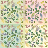 watercolor leaves arrangement for background