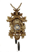 Black Forest Cuckoo Clock against a white background