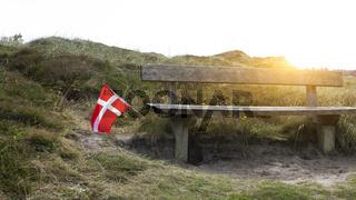 Bank zum ausruhen in Dänemark