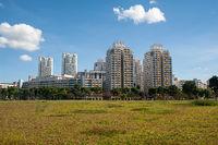 Singapur, Republik Singapur, Mehrgeschossige HDB Wohnblocks oeffentlicher Wohnungsbau