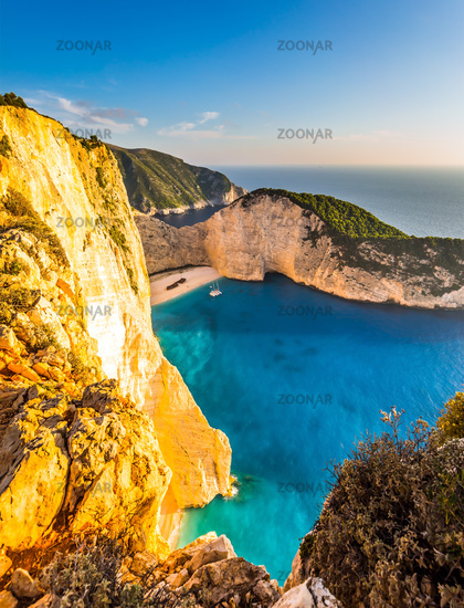 The coast of island of Zakynthos