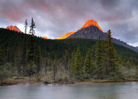 Waterfowl Lake, Banff National Park, Icefield Parkway, Alberta, Canada