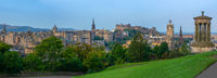 Edinburgh Castle Panorama At Dawn