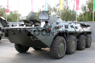 old Soviet Armored troop-carrier on the street