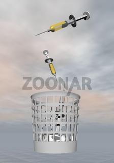 Stop syringes - 3D render
