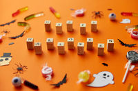 trick or treat letters and halloween sweets