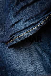 Detail of blue jeans texture
