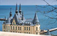 Modern castle on the beach of Odessa, Ukraine