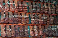 Full Frame Shot Of Multi Colored Sandals