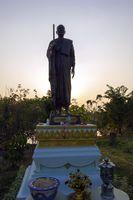 Monk Sculpture.