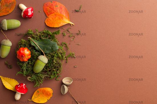 Composition With Autumn Symbols