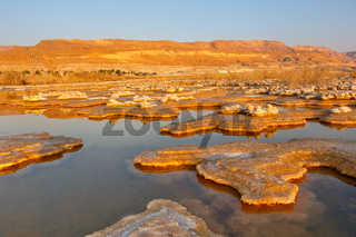 Sunrise at Dead Sea Israel desert landscape salt morning water nature