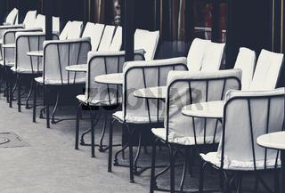 Sidewalk cafe in Paris