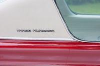 Antwerp, Belgium, June 2013, Close up detail of a 60's vintage red Chrysler 300