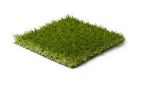 Section of Artificial Turf Grass Isolated On White Background