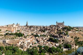 Toledo cityscape on summer day