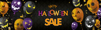 Halloween Balloons Face Sale Ornaments Header