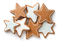 Composition Of Gingerbread Stars Isolated On White