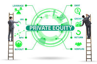 Businessman in private equity concept