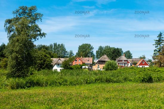 Beautiful houses in Ahrenshop, Fischland-Darss, Mecklenburg-Vorpommern, summer 2020