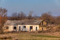 rundown and abandoned house in countryside