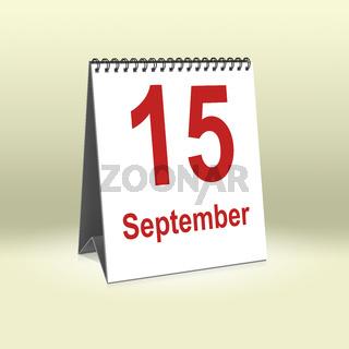 September 15th   15.September