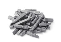 Pile of replacement impact screwdriver bits