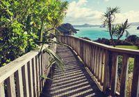 Boardwalk in New Zealand coast