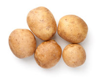 Group Of Raw Potatoes Isolated On White