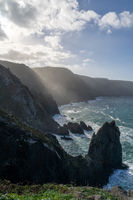 the wild rocky coast of Galicia in northern Spain at Cabo Ortegal