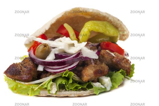 Gyros in a pita bread
