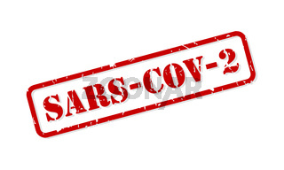 SARS-COV-2 Rubber Stamp Vector