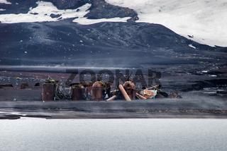 Walfangstation auf Deception Island, Antarktis